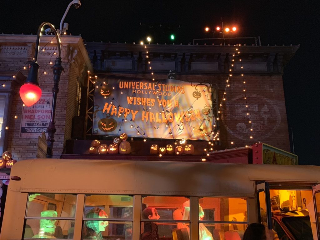 Decorazioni di Halloween agli Universal Studios