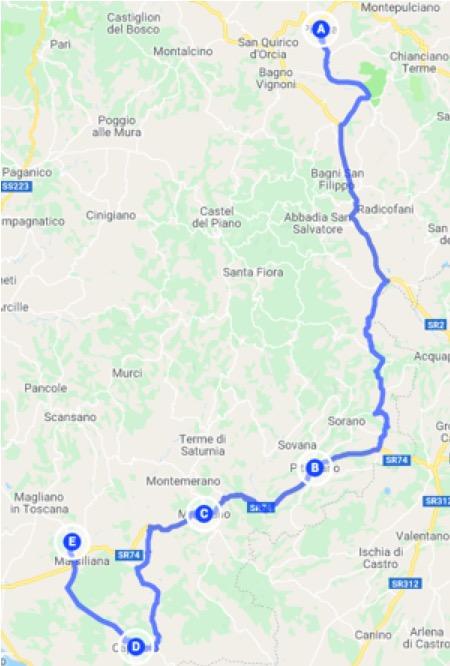 Itinerario in auro da Pienza alla Maremma