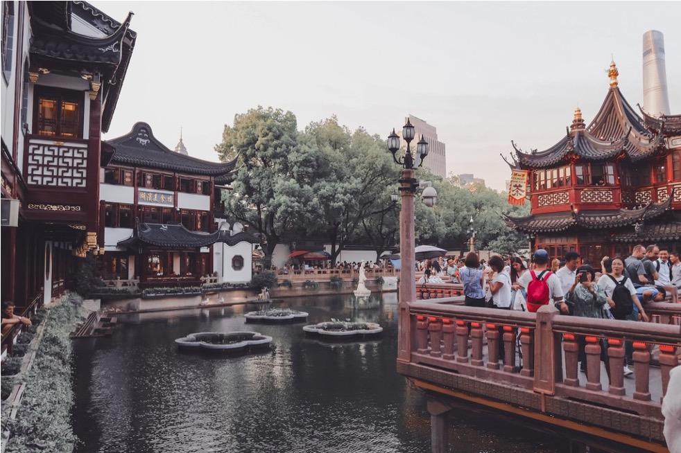 Uno stagno a Shanghai